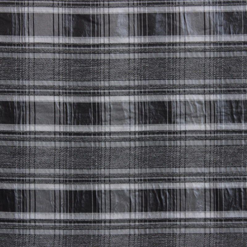 tissu viscose carreaux gris. Black Bedroom Furniture Sets. Home Design Ideas