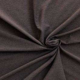 Tissu viscose et polyester rayé marron