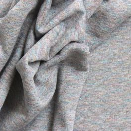 Grey sweatshirt fabric with silver sequins