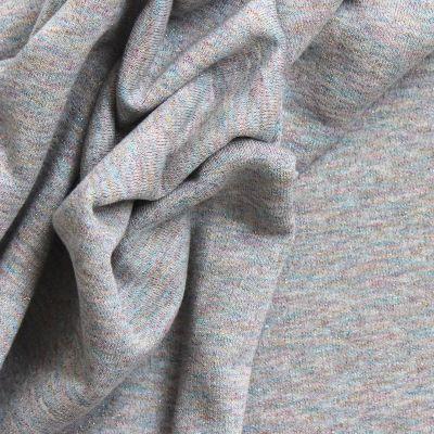 Tissu sweat molletonné effet pailleté gris