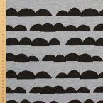 Tissu jersey chiné petites montagnes gris