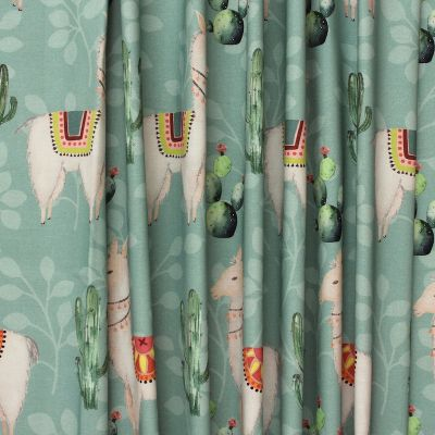 Meubelstof bedrukt met cactussen