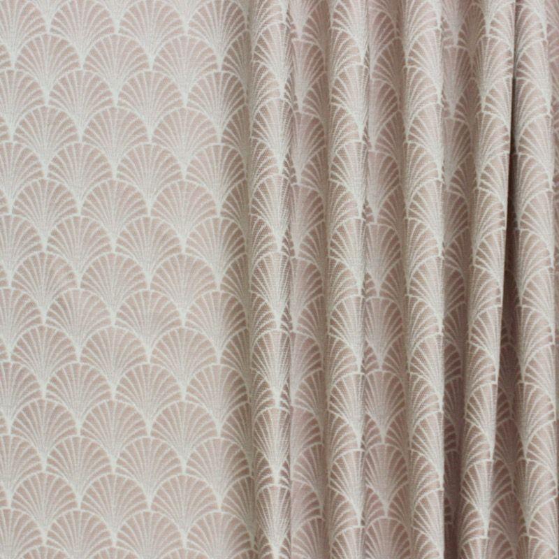 Tissu jacquard inspiration art d co motif ventail rose - Tissu ameublement art deco ...
