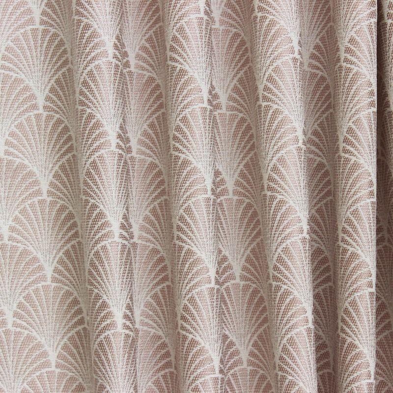 tissu jacquard inspiration art d co motif ventail rose. Black Bedroom Furniture Sets. Home Design Ideas