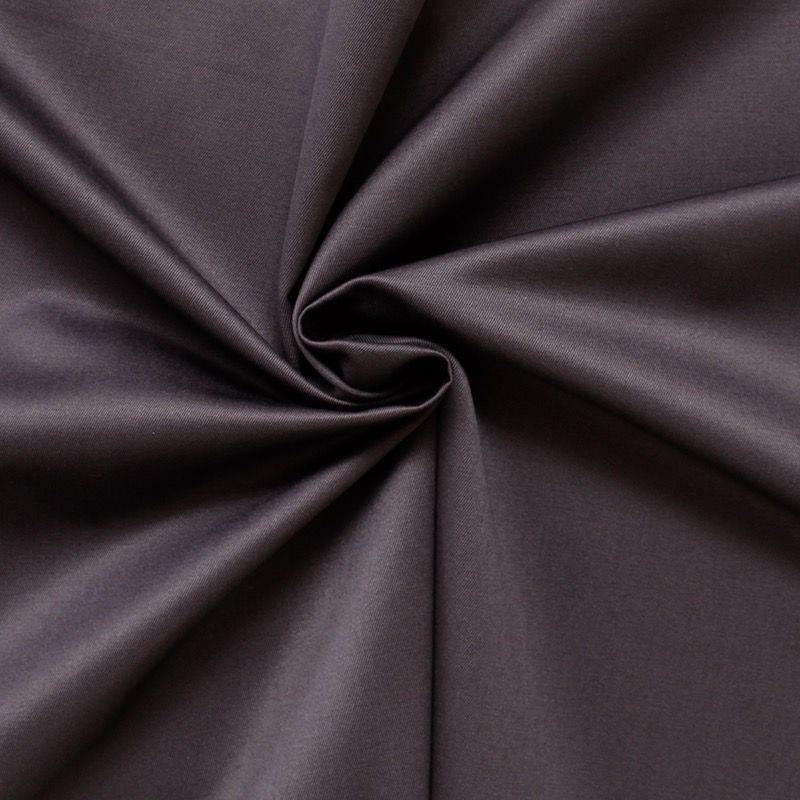 tissu satin de coton serg lourd uni prune. Black Bedroom Furniture Sets. Home Design Ideas