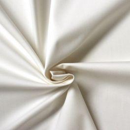 Tissu satin de coton emerisé ivoire