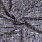 Woolen fabric black with Lurex gold thread