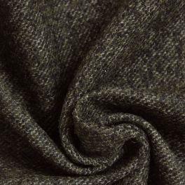 Wollen stof kaki chiné