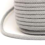 cordon tressé gris perle