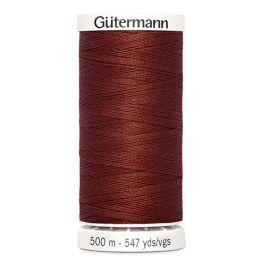 Fil à coudre brun 500m Gütermann 227
