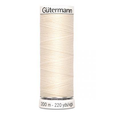 Fil à coudre beige Gütermann 802
