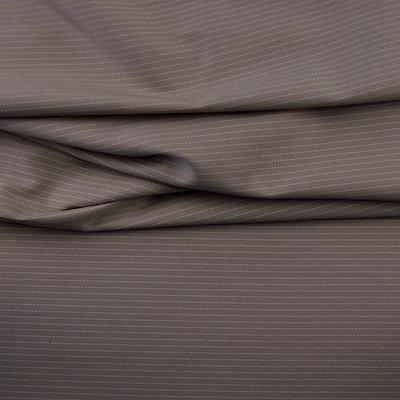 Bruin en wit gestreepte katoen stof