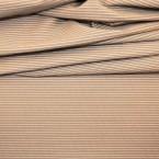 Tissu en coton à lignes blanches sur fond beige