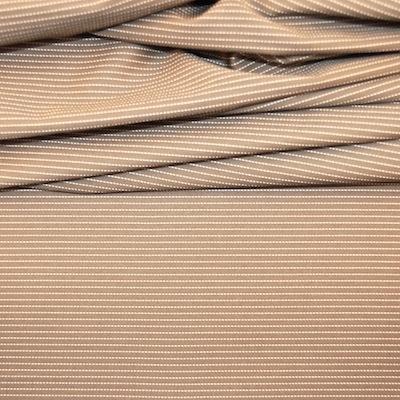 Beige en wit gestreepte katoen stof
