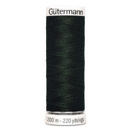 Fil à coudre vert Gütermann 687