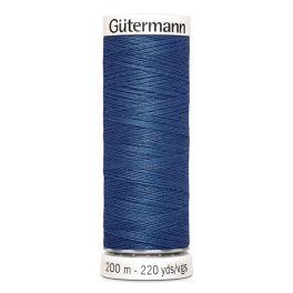 Fil à coudre bleu Gütermann 786
