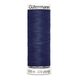 Fil à coudre bleu Gütermann 537