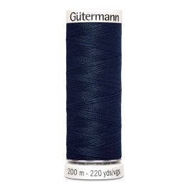 Fil à coudre bleu Gütermann 487