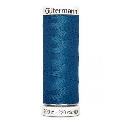 Fil à coudre bleu Gütermann 966