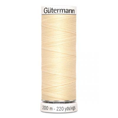 Fil à coudre jaune Gütermann 610