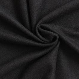 Lainage uni noir aspect laine bouillie