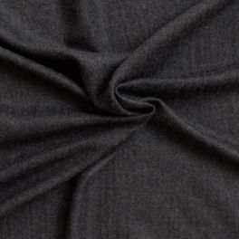 Woolen fabric solid black