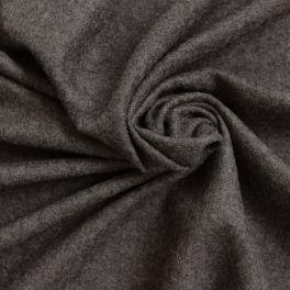 Lainage uni gris aspect laine bouillie