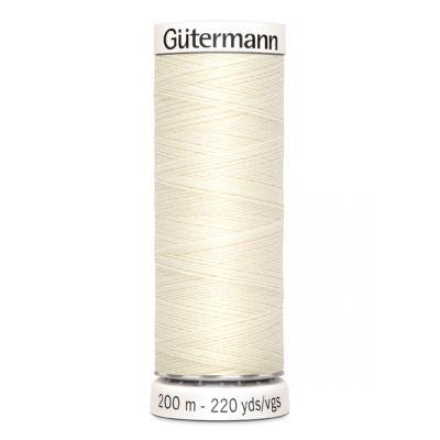 White sewing thread Gütermann 1