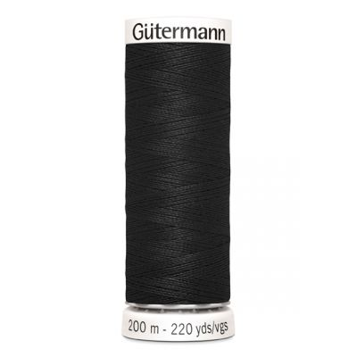 Black sewing thread Gütermann 000