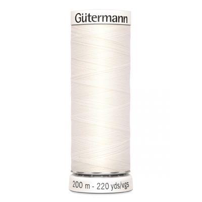 Fil à coudre blanc Gütermann 111