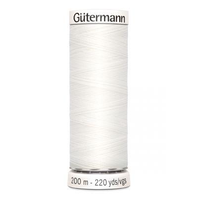 Fil à coudre blanc Gütermann 800