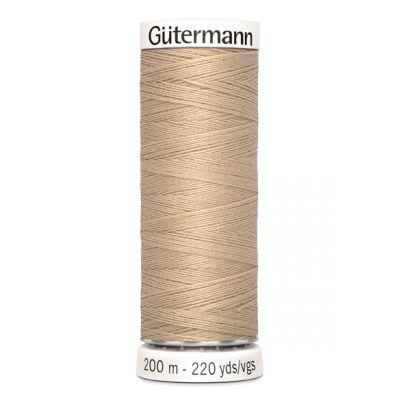 Fil à coudre beige Gütermann 186