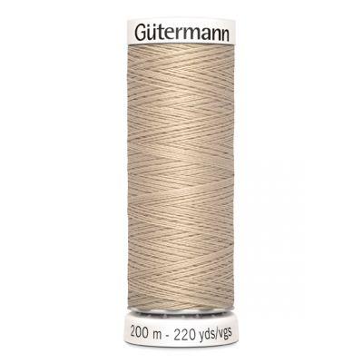 Fil à coudre beige Gütermann 198