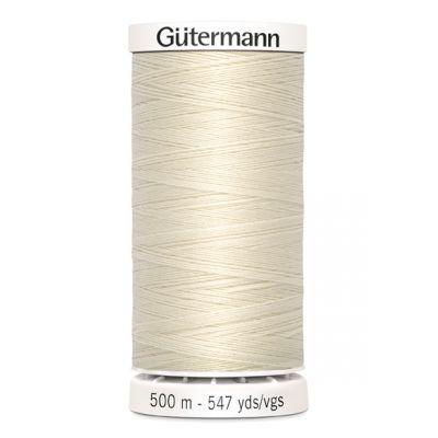 fil à coudre beige 500m Gütermann 802