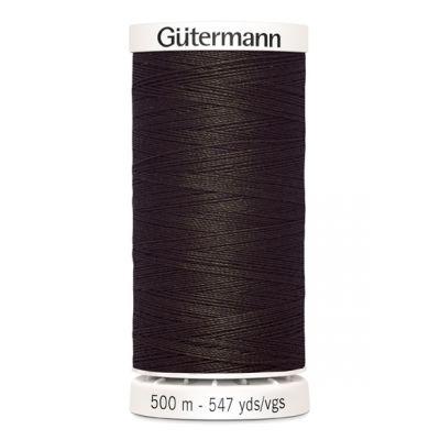 Fil à coudre brun 500m Gütermann 696