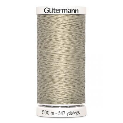 Fil à coudre beige 500m Gütermann 722