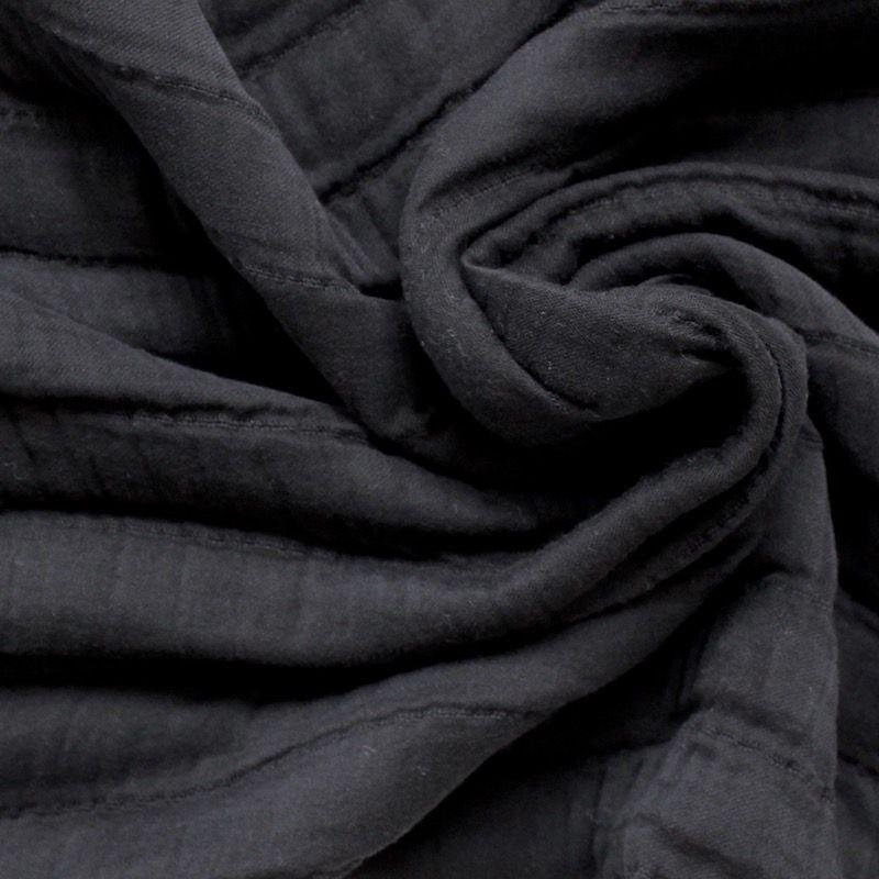 voile de coton doubl noir. Black Bedroom Furniture Sets. Home Design Ideas