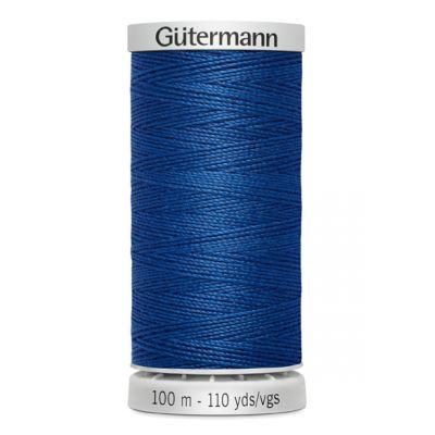 Fil à coudre extra fort bleu Gütermann 214
