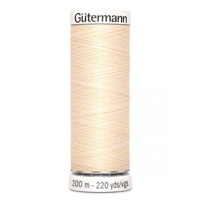 Fil à coudre beige Gütermann 414