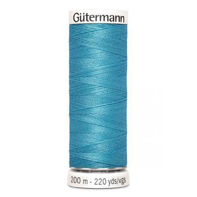 Blauwe naaigaren Gütermann 385