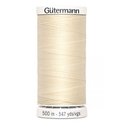 Fil à coudre beige 500m Gütermann 414