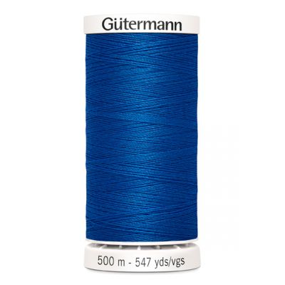 Fil à coudre bleu 500m Gütermann 322
