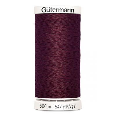 fil à coudre rouge 500m Gütermann 369
