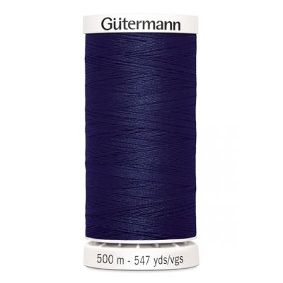Fil à coudre bleu marine 500m Gütermann 665