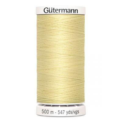 fil à coudre jaune 500m Gütermann 325