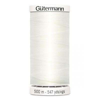 Fil à coudre blanc 500m Gütermann 111