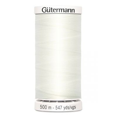 White sewing thread Gütermann 111