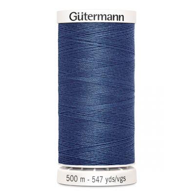 Fil à coudre bleu 500m Gütermann 112