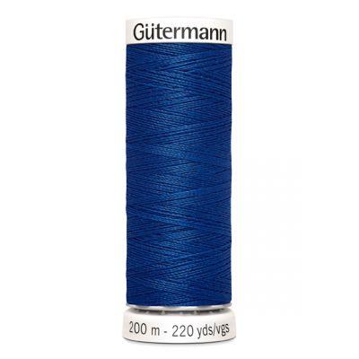 Blauwe naaigaren Gütermann 214