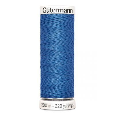 Blauwe naaigaren Gütermann